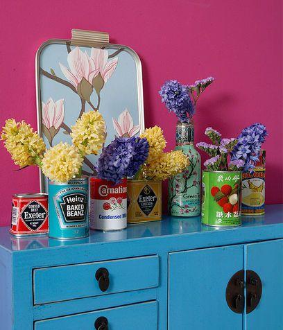 Oltre 25 fantastiche idee su vasi da fiori su pinterest for Barattoli di zuppa campbell s
