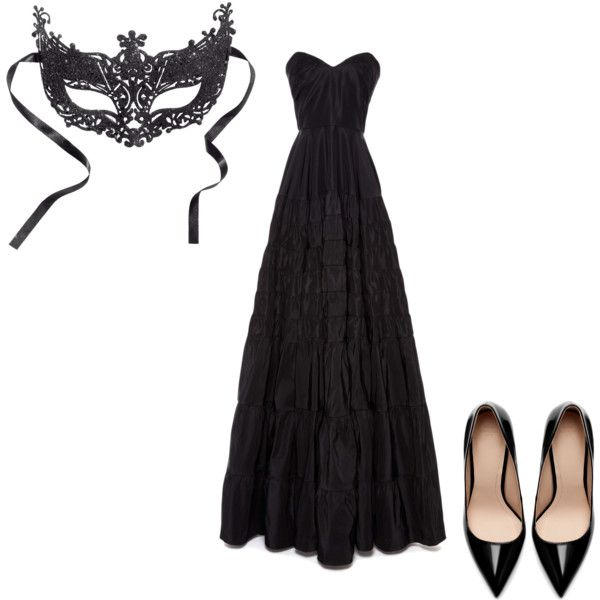 """Masquerade Ball: Black"" by kelsy-flanders on Polyvore"