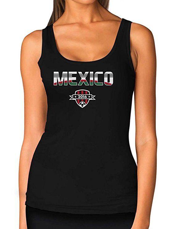 Tstars TeeStars - Mexico National Soccer Team 2016 Fans Women Tank Top  Medium Black 0f0df2b0b