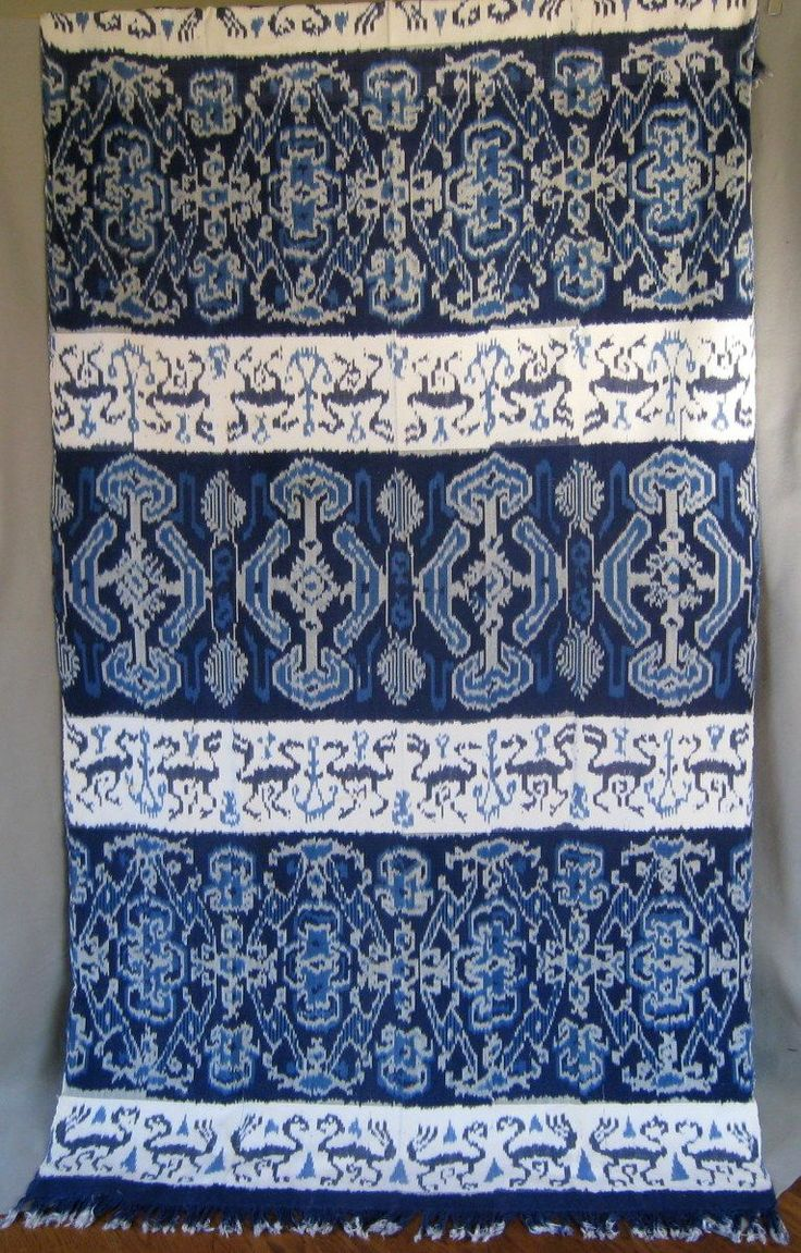Vintage Indonesian Indigo Ikat Weaving