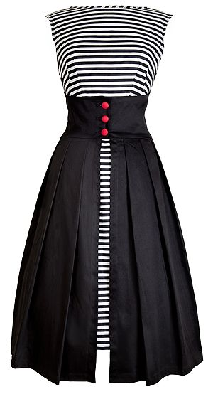 Love the stripes with a solid overskirt!