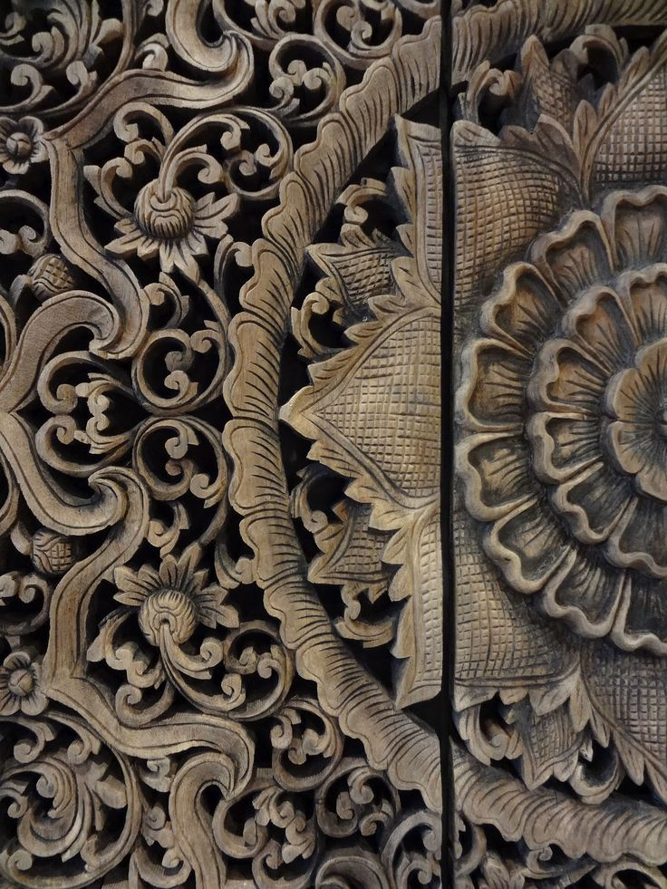 Houten paneel ....tempel plafond uit Thailand PTMD