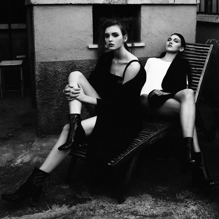 Together by Dimitri Dimitracacos and stylist Ludovica Misciattelli featuring models Marta P and Loya @MPmanagement Milan. Make-up and Hair by Marlene Demonte.