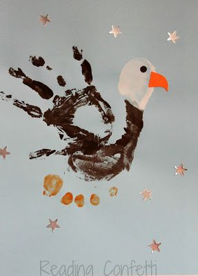 A patriotic bald eagle craft kids can make from their handprints and footprints. Includes a literature connection.