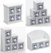 Mini Drawers 4X DESIGNS Trinket Storage Shabby Chic Holders Tabletop Containers