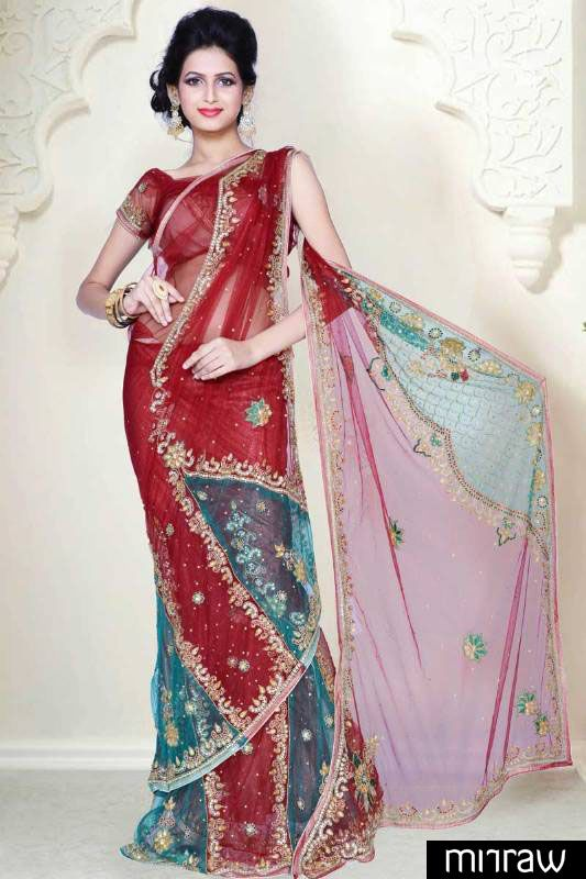 Beautiful party wear lehenga saree