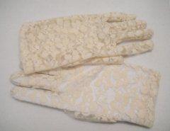 Lace Glove Short - Cream