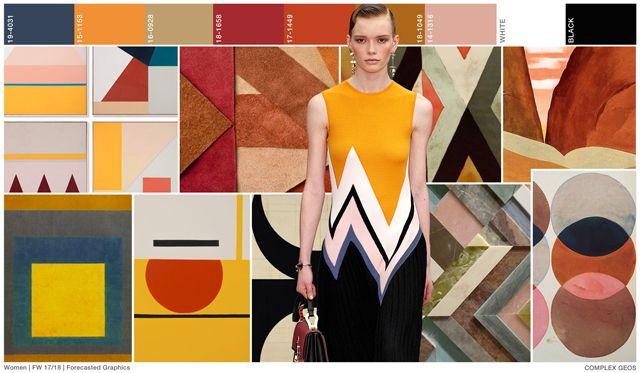 #FashionSnoops FW 17/18 graphics on #WeConnectFashion. Women's trend: COMPLEX GEOS