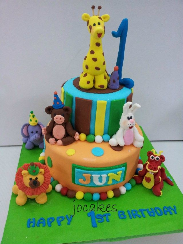 24 Elegant Photo Of 2 Year Old Boy Birthday Cake Designs 13 Cakes For Animals Jungle