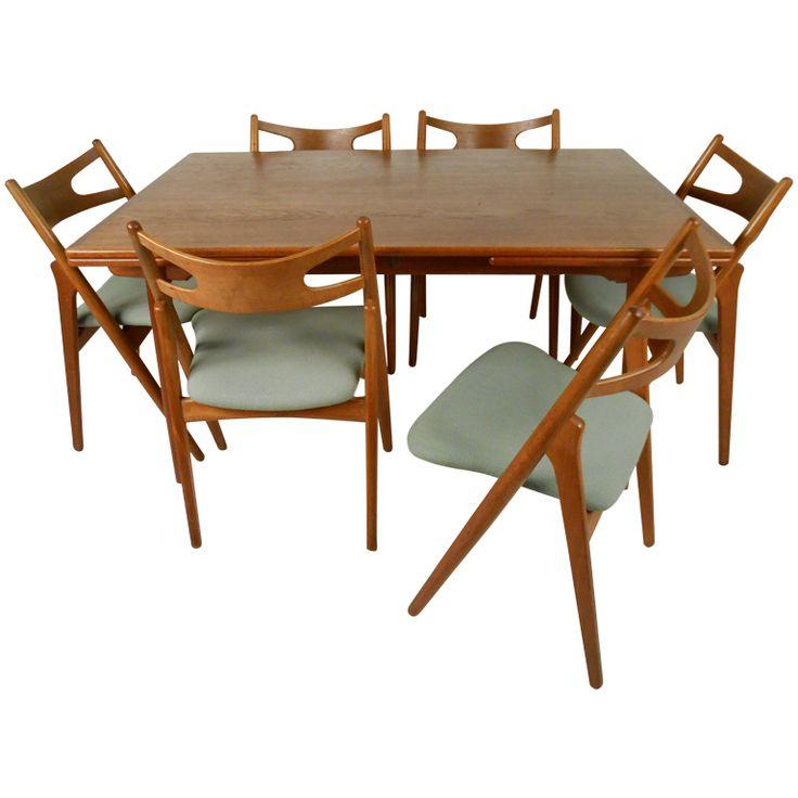 1stdibs   Hans Wegner Dining Table U0026 Chairs