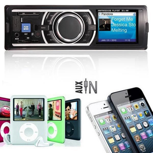 Compre Som Automotivo Stereo In Dash-MP3 Player FM Receptor USB Entrada AUX pelo menor preço do Brasil