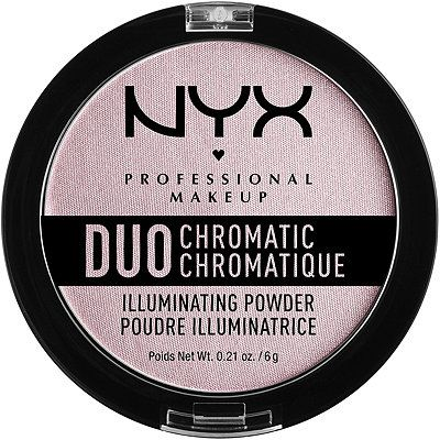 Nyx Cosmetics Duo Chromatic Illuminating Powder Lavender Steel