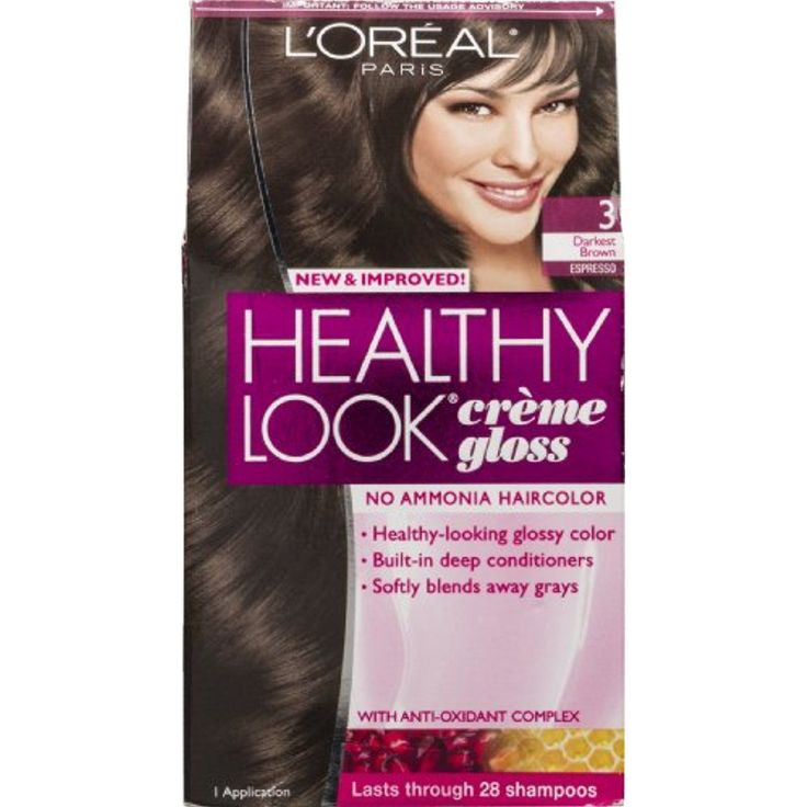L'Oreal Paris Healthy Look Creme Gloss 3 Darkest Brown Espresso *** Click image to review more details. (This is an affiliate link and I receive a commission for the sales) #HairColoringProducts