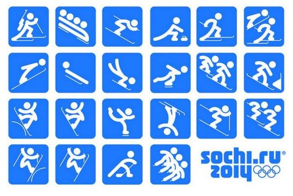 Creative Designs of the New Winter Olympics 2014 Pictograms