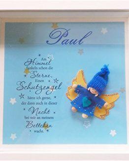 Schutzengel Wandbild, personalisierbar mit Name #geburt #taufe #babygeschenk