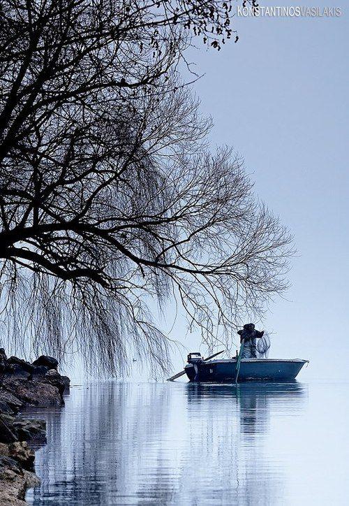 The morning catch, City of Kastoria, Lake Orestiada #Greece