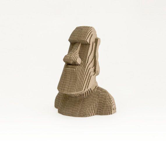 Cardboard Moai