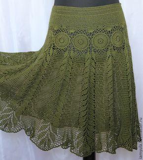 Юбки ручной работы. Ярмарка Мастеров - ручная работа. Купить Летняя ажурная юбка связанная крючком из хлопка. Handmade. Ажурные