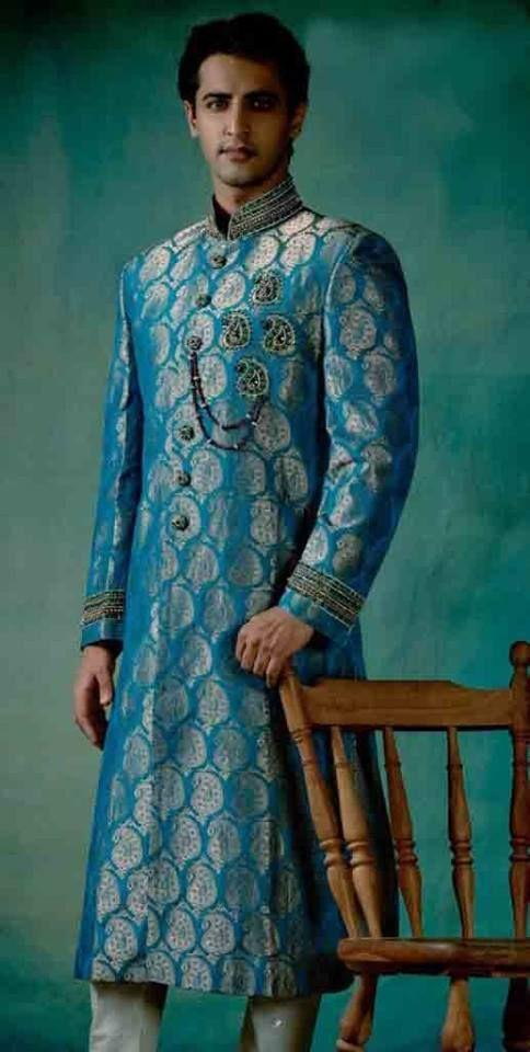 New Style Of #Banarsi #Sherwani.  www.shaadi.org.pk