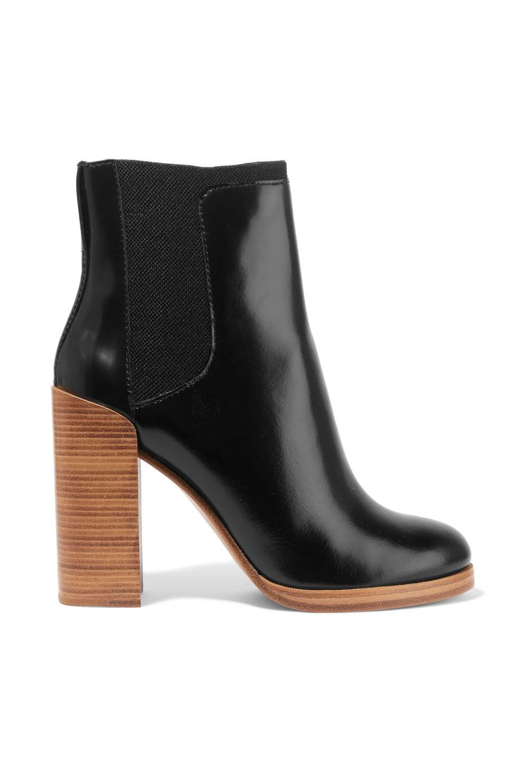 3.1 Phillip LimEmerson canvas-trimmed polished-leather ankle boots