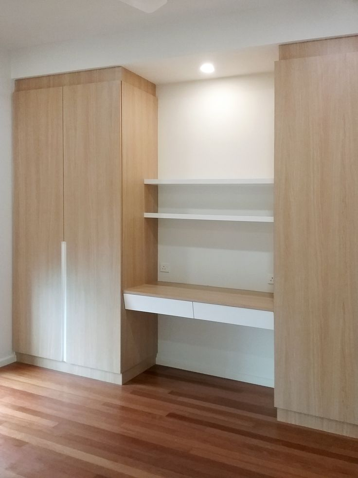 Wardrobe with writing desk