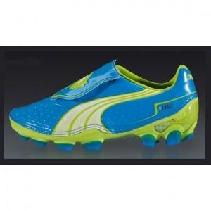SALE - Mens Puma V1.11 Soccer Cleats Blue Fiber - Was $126.99 - SAVE $85.00. BUY Now - ONLY $41.99