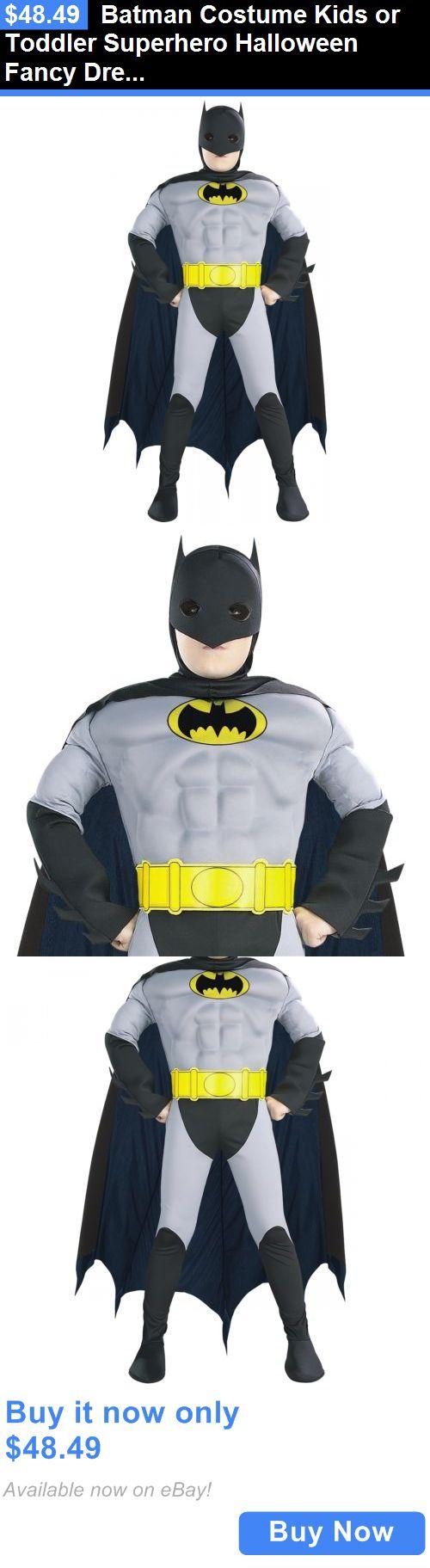Halloween Costumes: Batman Costume Kids Or Toddler Superhero Halloween Fancy Dress BUY IT NOW ONLY: $48.49