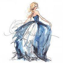 Fashion - Design - Drawing, Obrazy/rysunki, szkicownik na Stylowi.pl