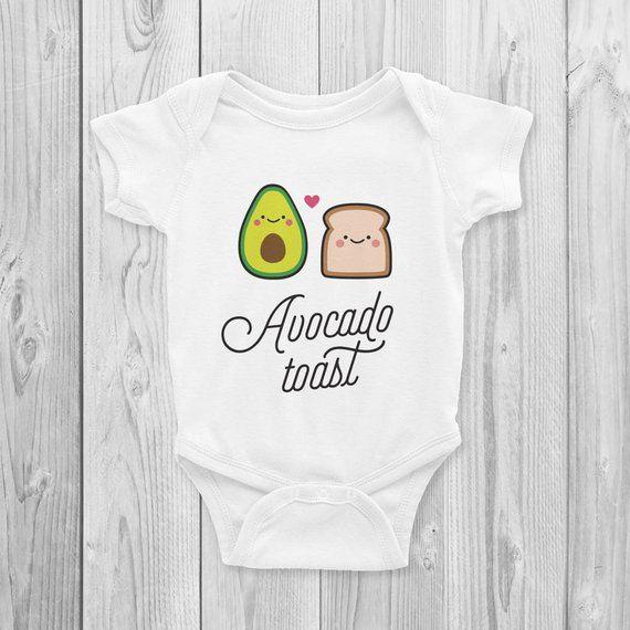 01a4b1afd Avocado Toast Onesie, Bodysuit, Cute, Vegan Baby Gifts, Vegan Baby Shower,  Herbivore, Kawaii, Vegan   Products   Vegan baby, Onesies, Baby Shower Gifts