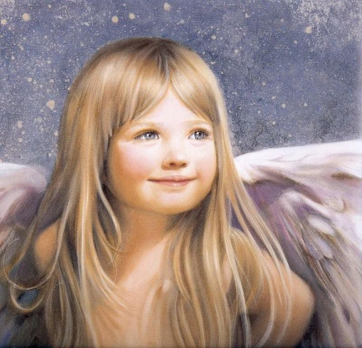 Beautiful baby angel..she must be sitting at Jesus feet, because her face reflects His glory~