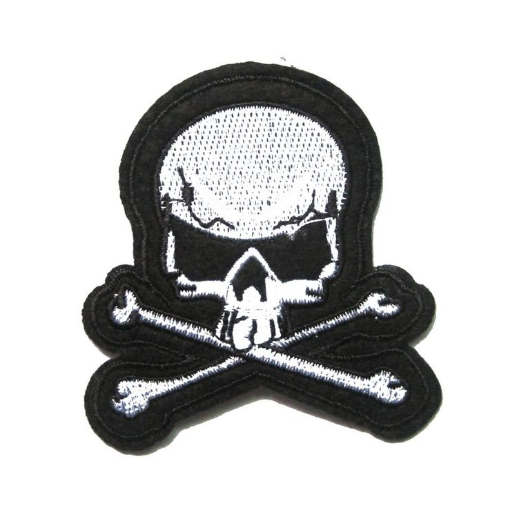 2Pcs Jolly Roger Embroidered Patch Pirate Skull Crossbones Iron-On Poison Emblem #Affiliate