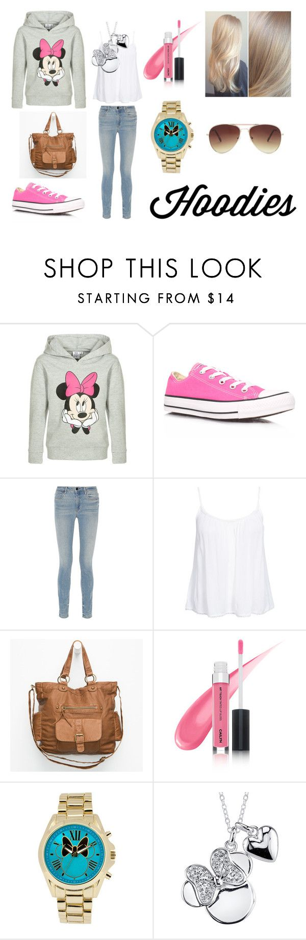 """""""Winter Layering: Hot Hoodies"""" by holly32196 ❤ liked on Polyvore featuring moda, Disney, Converse, Alexander Wang, New Look, T-shirt & Jeans, Redken, Forever 21, women's clothing y women's fashion"""