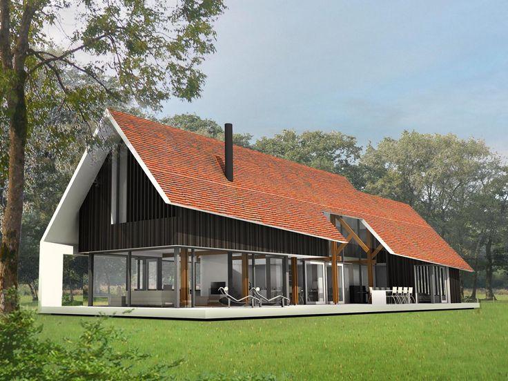 spannend ontwerp, mogelijk bruikbaar voor onze woning gezien we veel aan de zuid/zuidwest kant zullen leven ivm lichtinval. De rode dakpannen vind ik minder mooi
