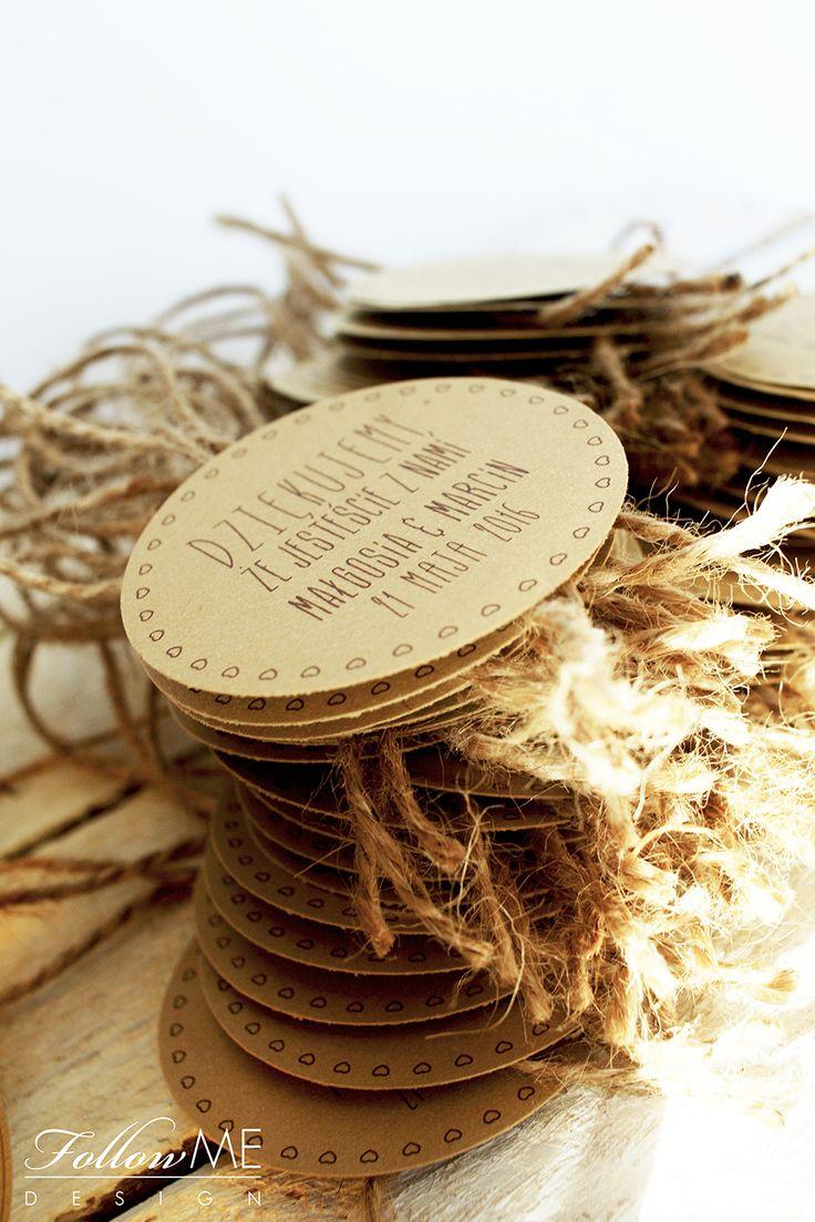 Etykiety na butelki / Rustykalne Dekoracje ślubne od FollowMe DESIGN / Wedding Labels / Rustic Wedding Decorations & Details by FollowMe DESIGN