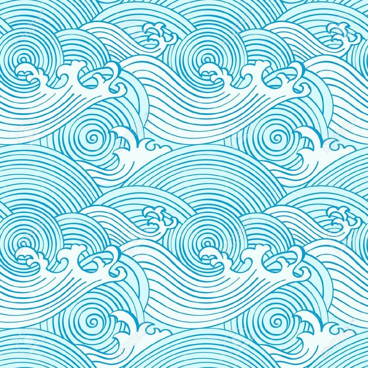 Japanese Seamless Waves Pattern In Ocean Colors Royalty Free Cliparts, Vectors, And Stock Illustration. Image 9447976.