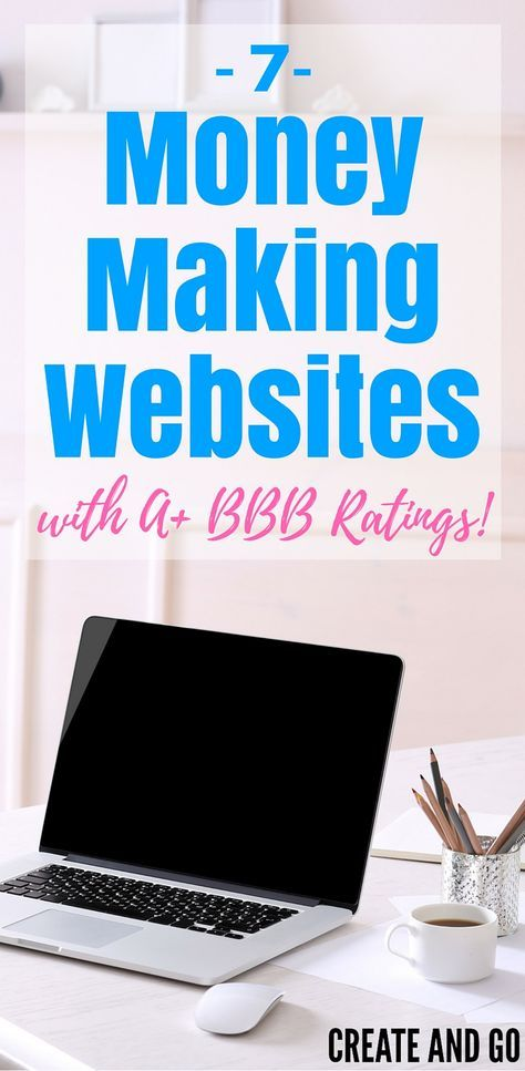 Make a serious side hustle income with these trusted, top-rated money making websites! They are great for making a supplemental side income from home! http://createandgo.co/7-money-making-websites-bbb-rating/