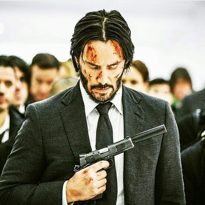 ". ""John Wick is a man of focus, commitment and sheer fucking will Something you know very little about"" #johnwick #keanureeves #fortisfortunaadiuvat"