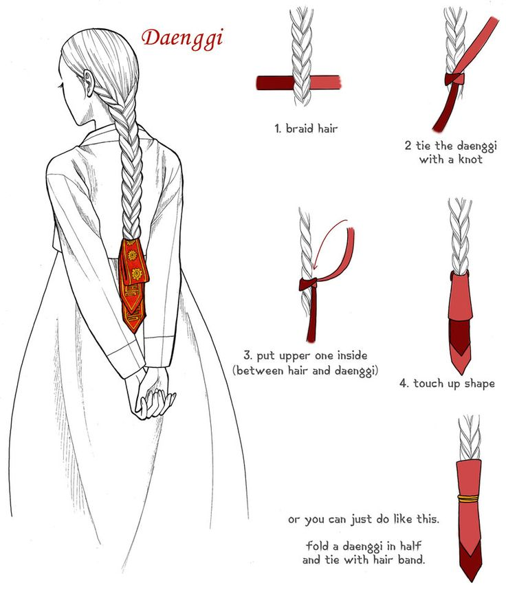Daenggi 1 by Glimja on deviantART~Korean hair ribbon