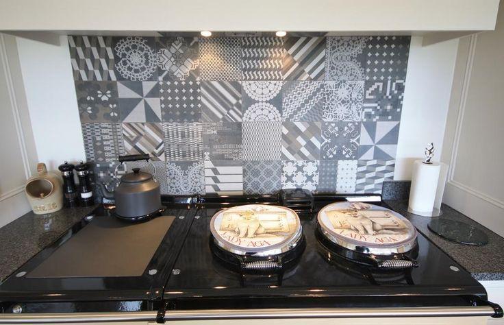 Gorgeous tiles : Azulej Nero in Shepherd's of Cheshire kitchen