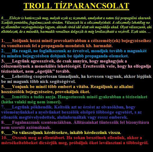 A TROLL Tízparancsolata