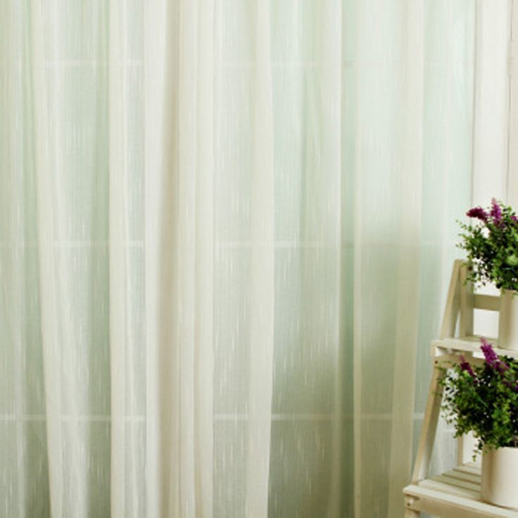 Dreamy White sheer curtains sale of Polyester