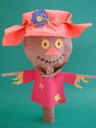 childrens art and craft: Fallcraft Kidscraft, Crafts For Kids, Crafts Ideas, Paper Bags, Fall Crafts, Kidscraft Fall, Kids Crafts, Scarecrows Crafts, Fall Kids