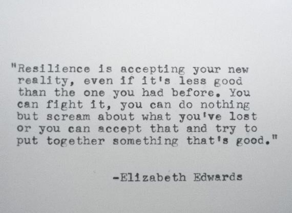 ELIZABETH EDWARDS Inspirational Quote Made on Typewriter Resilience Quote by PoetryBoutique on Etsy https://www.etsy.com/listing/178873922/elizabeth-edwards-inspirational-quote