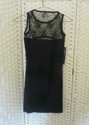 Black short stretch party dress lace size XS uk 6 bnwt in Clothes, Shoes & Accessories | eBay
