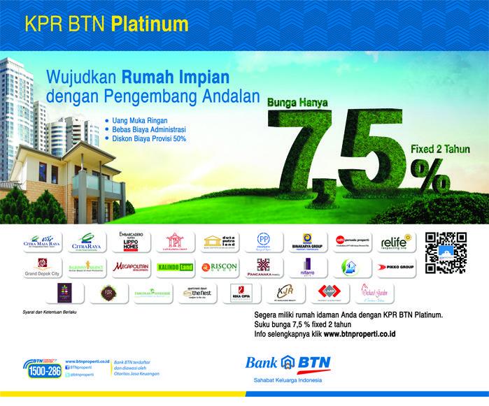Suku Bunga Promosi 7,5% Bekerjasama dengan pengembang