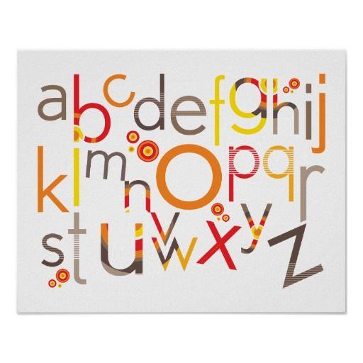 DE KUNST VAN DE MUUR:: TYPOGRAFIE - trendy alfabet Posters