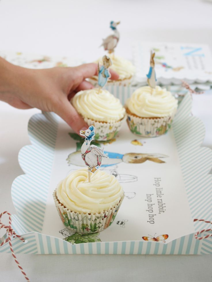 Peter Rabbit Platter & Cupcake Toppers