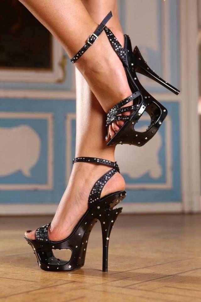 Sexy Black High Heel Shoes