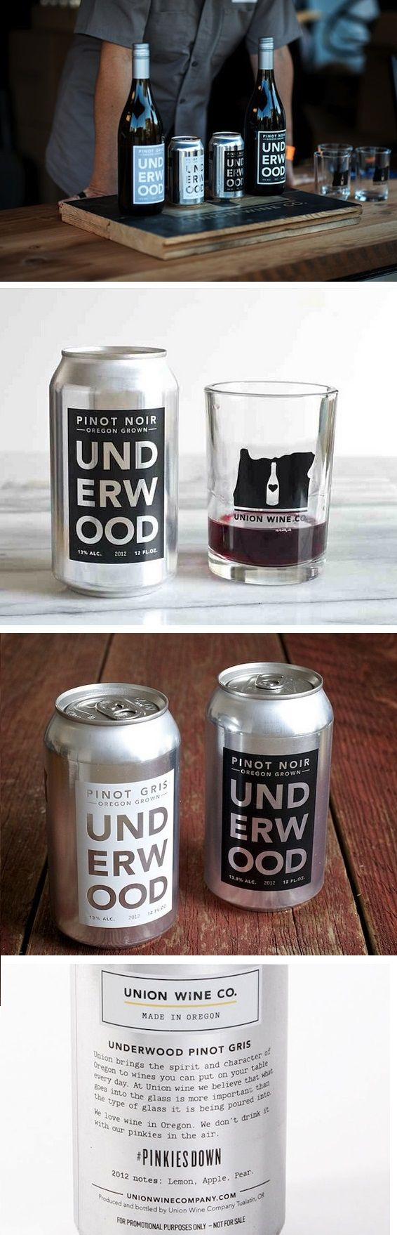 Check out this unusual creative packaging solution by the Union Wine Company - would you drink wine from a beer can?