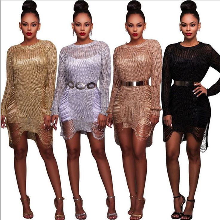 Summer Women's Bandage Bodycon Long Sleeve Club Beach Party Cocktail Mini Dress #dressescasualcocktail